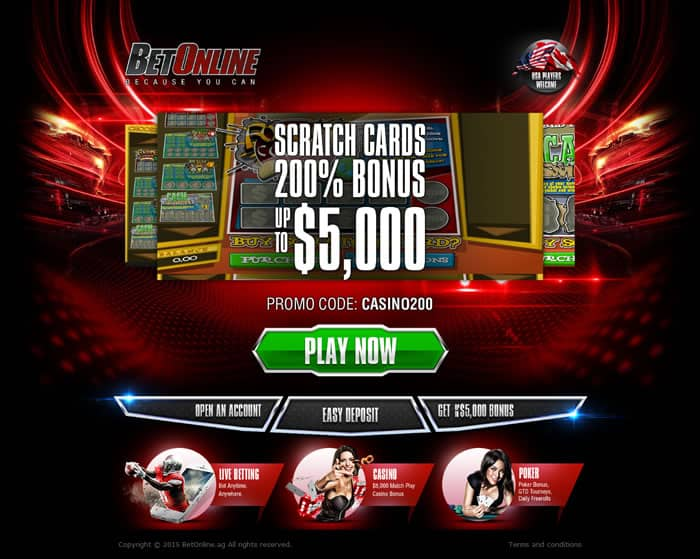 Betonline Scratchcards